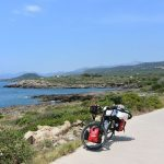 Schöner Radweg zwischen Stoupa und Agi. Nikolaos