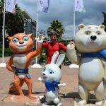 Die olympischen Maskottchen