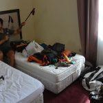 Packen im Hotel
