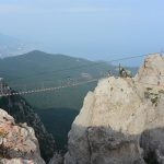 Hoch oben auf dem Berg mit Blick aufs Schwarze Meer