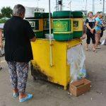 Kwas, national Getränk Russlands. Gärung aus Brot
