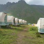 4 Männer teilen ein Zelt, das als Sauna dienen sollte
