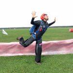 Grund Position im Skydiven